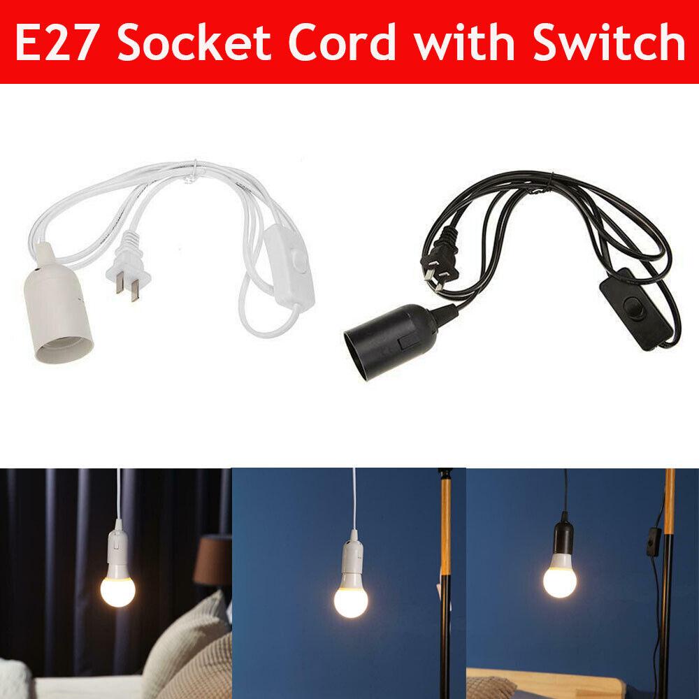 E27 Bulb Socket Extension Hanging Pendant Light Lamp Cord Ca