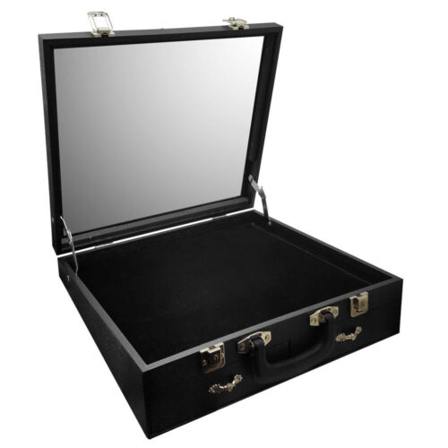 """Angled Glass Top X-Large Display Carrying Case 16 1/2""""W x 15""""D x 4 1/2""""H"""