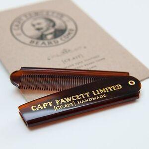 Captain Fawcett's Folding Pocket Beard Comb - CF.82T - Made in England