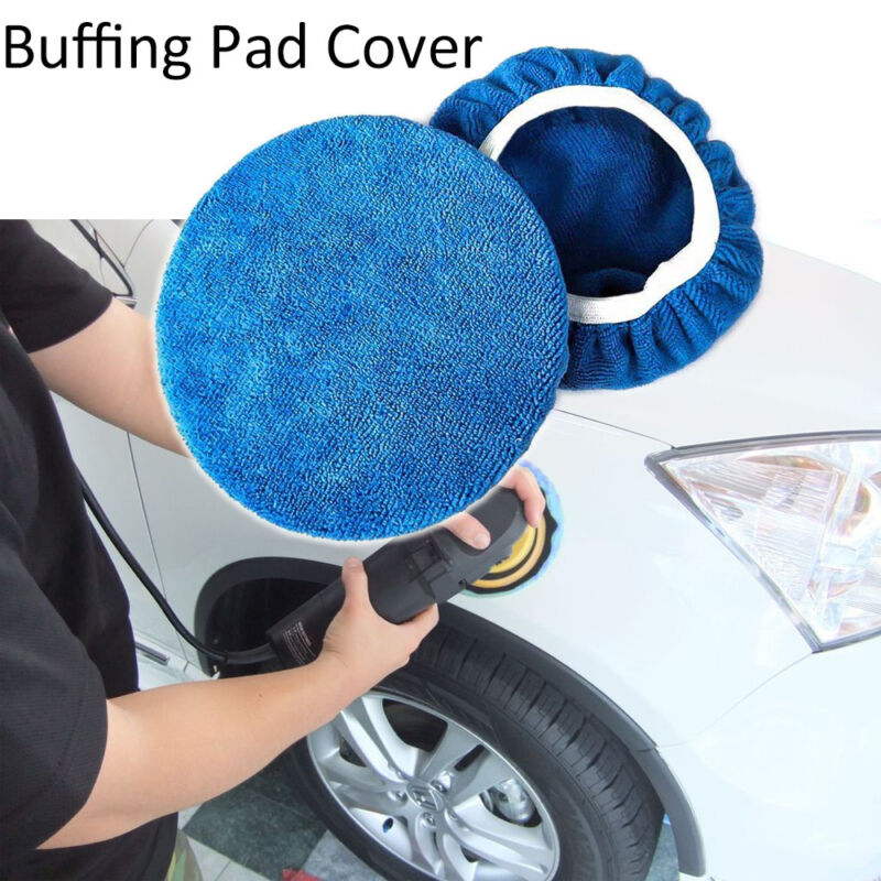 Tools  Microfiber  Soft  Buffer Pad Polishing Bonnet Cover Car Paint Care