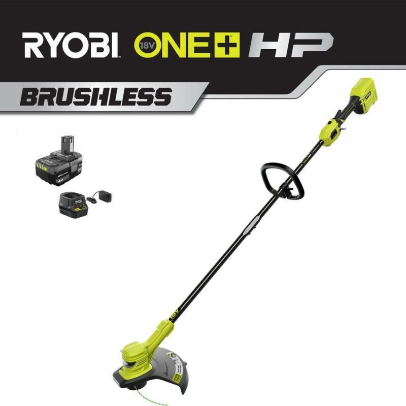 RYOBI ONE+ HP 18-Volt Brushless Lithium-Ion Cordless String Trimmer - 4.0 Ah
