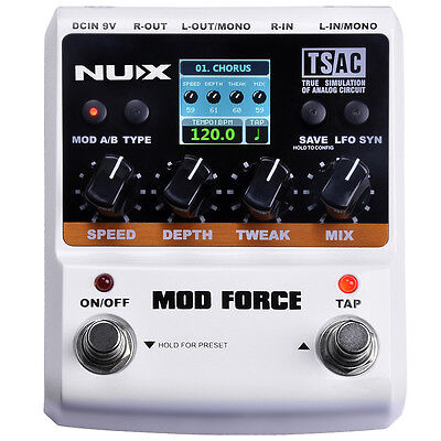Nux Mod Force Multi Modulation Guitar Effects Pedal  Picks