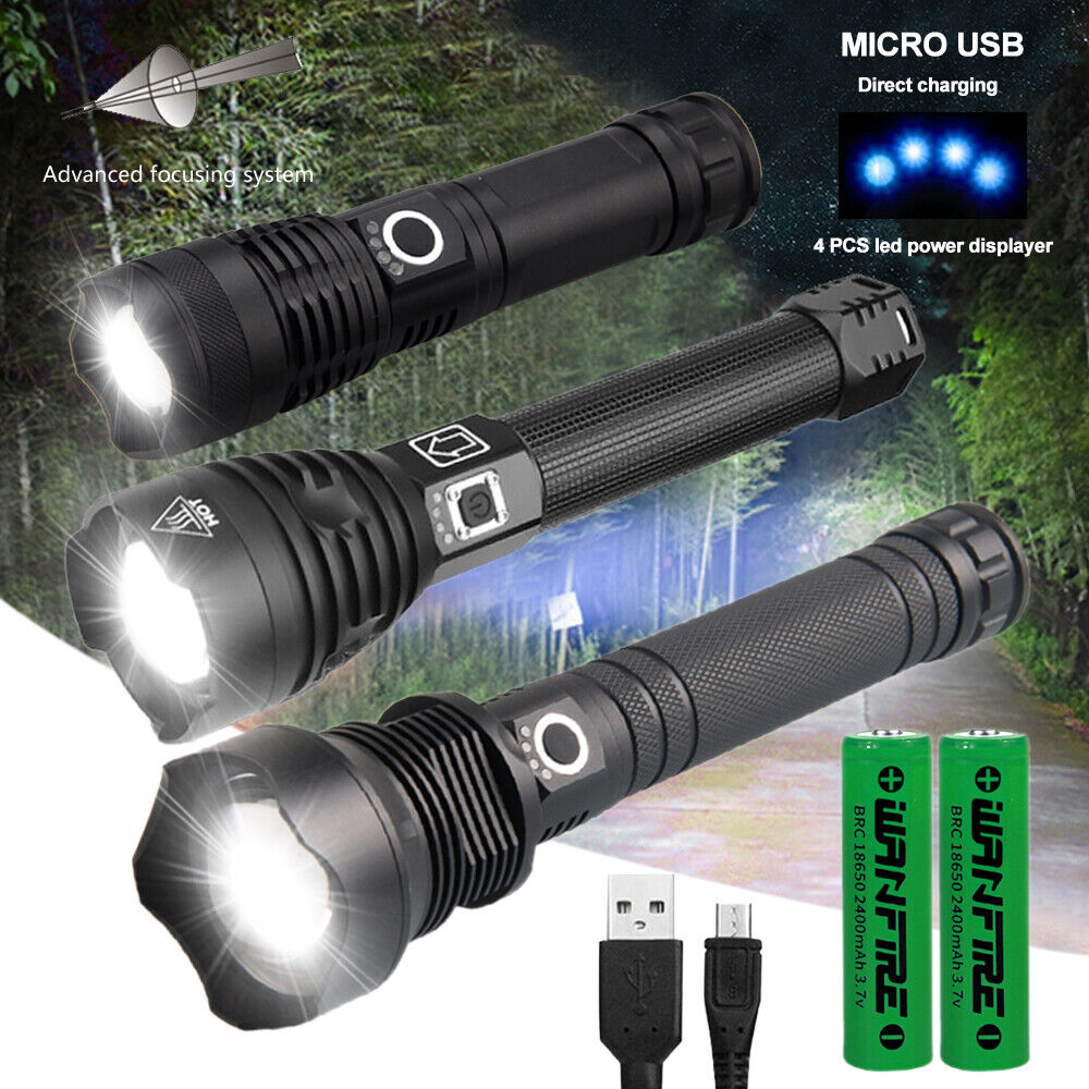 990000lumen Super Bright XHP90 LED USB Rechargeable Zoomable 18650 Headlamp USA