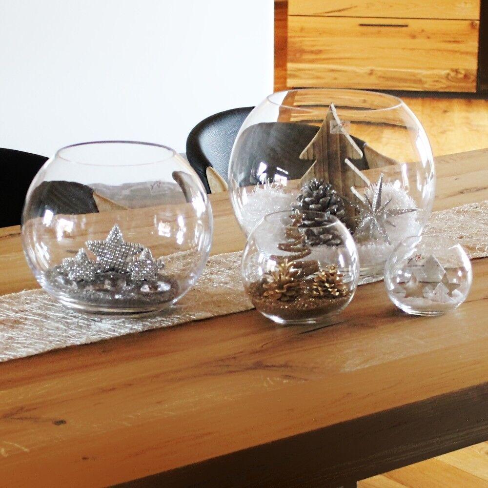 Weihnachtsdekoration Tischdekoration Glas Weihnachten Sterne Sand Kugeln Vase