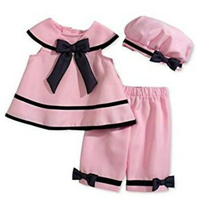 Rare Editions Baby Kleid Matrosen Sailor Outfit Tunike Top Hose Hut Mädchen 80 ()