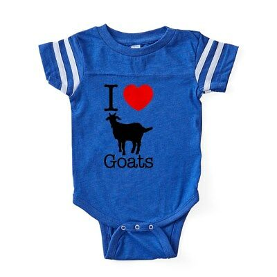 CafePress I Heart Goats Baby Football Bodysuit