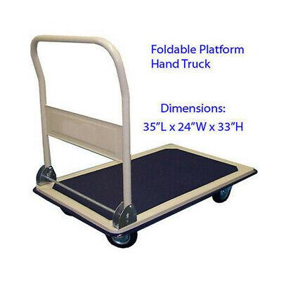 New 660 Lb Foldable Platform Plat Form Utility Hand Cart Pull Truck