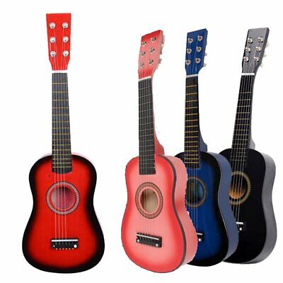 """23"""" Acoustic Guitar Beginners Children Kids Practice Toy with Pick String New"""