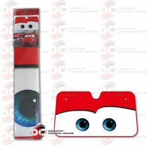 DISNEY PIXAR CARS MOVIE FASHION MCQUEEN FRONT CAR WINDSHIELD SUN SHADE (RED)
