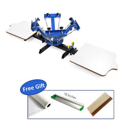 4 Color 2 Station Silk Screen Printing Machine 4-2 Press Diy T-shirt Printing