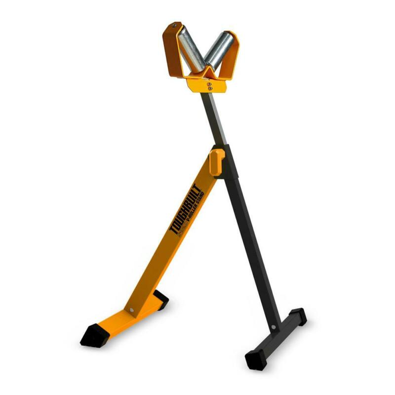V-Roller Stand 45.5 in. 2-Rollers Head Quick Height Adjustment Fold Flat Compact