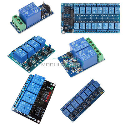 12v 124816-channel Relay Module With Optocoupler For Pic Avr Dsp Arm Arduino
