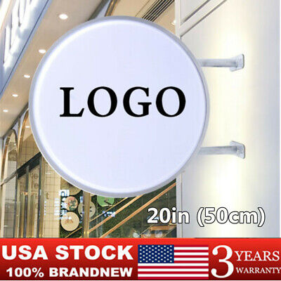 20 Round Led Outdoor Advertising Projecting Light Box Sign Illuminated Sign Usa