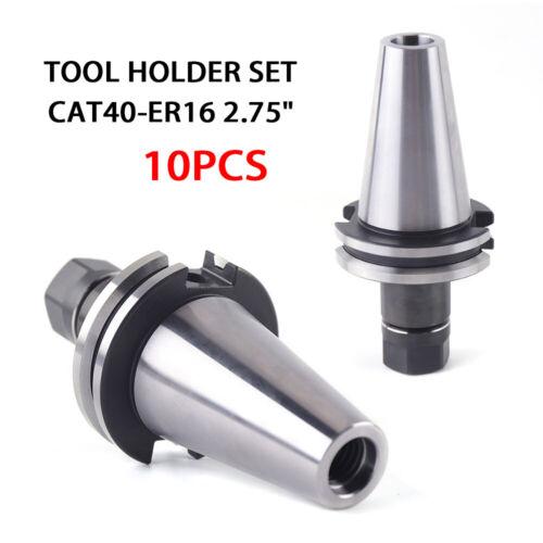 "10Pcs CAT40 Tool Holder ER16 Collet Chuck Set length 2.75/""//70mm Chuck Tool Holde"