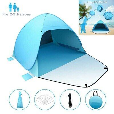 Pop Up Strandmuschel Camping Zelte Tür UV 50 Sonnenschutz Strandzelt Wurfzelt
