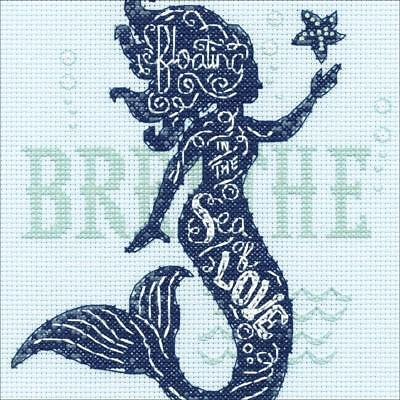 Counted Cross Stitch Kit MERMAID SONG Dimensions NEW RELEASE