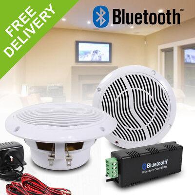 e-Audio Wireless Bluetooth Home Bathroom Moisture Resistant Ceiling Speaker Kit