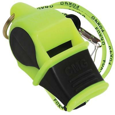 NEON/BLACK Fox 40 SONIK BLAST CMG Whistle Official Coach Safety - FREE