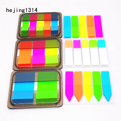 Fluorescence Self Adhesive Memo Pad Sticky Notes Bookmark School Office Supplies