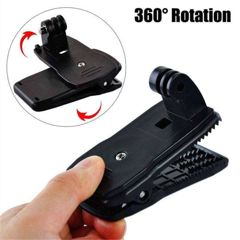 Holder Backpack Action Camera Clip Mount 360 Rotating For Go