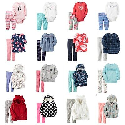 NWT Carters Toddler Girl 2-pc Spring Fall Winter Set Outfit Fleece Hoodie 2T-5T