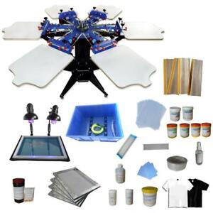 6 Color 6 Station Screen Printing Kit with Exposure Unit DIY Supply 006977 Item number 006977