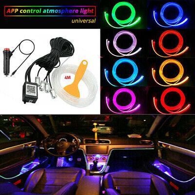 RGB LED Car Interior Decor Atmosphere Light Strip Wire Lamp Optic Fiber Colorful