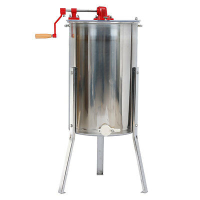New Large 2 Frame Honey Extractor Beekeeping Equipment Stainless Steel Silver