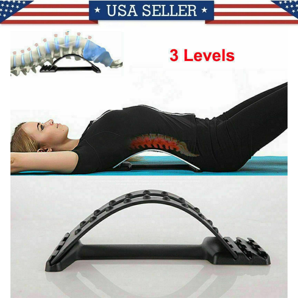 Back Support Stretcher Extender Posture Massager Chiro Lumbar Pain Relief Health & Beauty