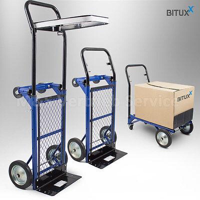 2in1 Sackkarre klappbar Transportkarre Handkarre Stapelkarre Plattformwagen 80kg