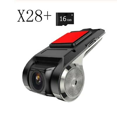 Camara Para Carro Video Grabadora X28 1080P FHD DVR ADAS G-sensor + TF Card 16GB