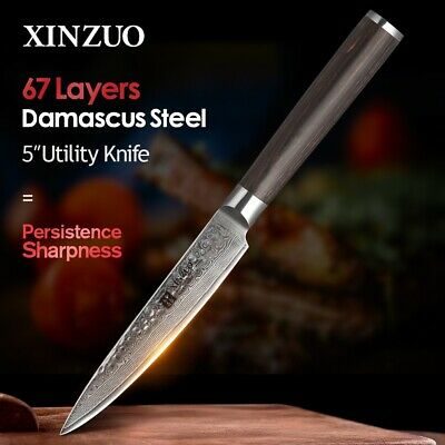 New Handmade Utility knife Japanese VG10 Damascus Kitchen Paring Knives Tool