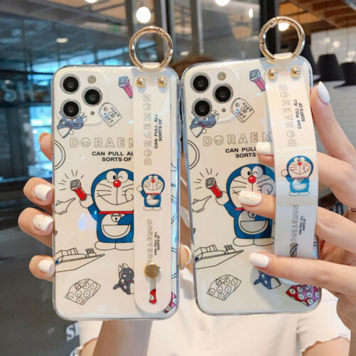 cartoon doraemon doll wristband phone case