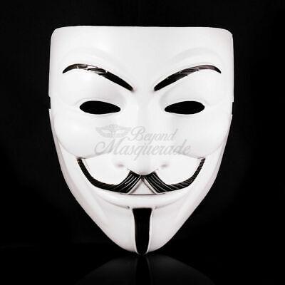 V for Vendetta White Masquerade Mask Halloween Costume](White Costumes For Halloween)