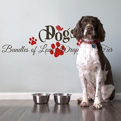 Pet Dog Wall Sticker Inspired Bundles Of Love Quote Vinyl Animal Removable Decor