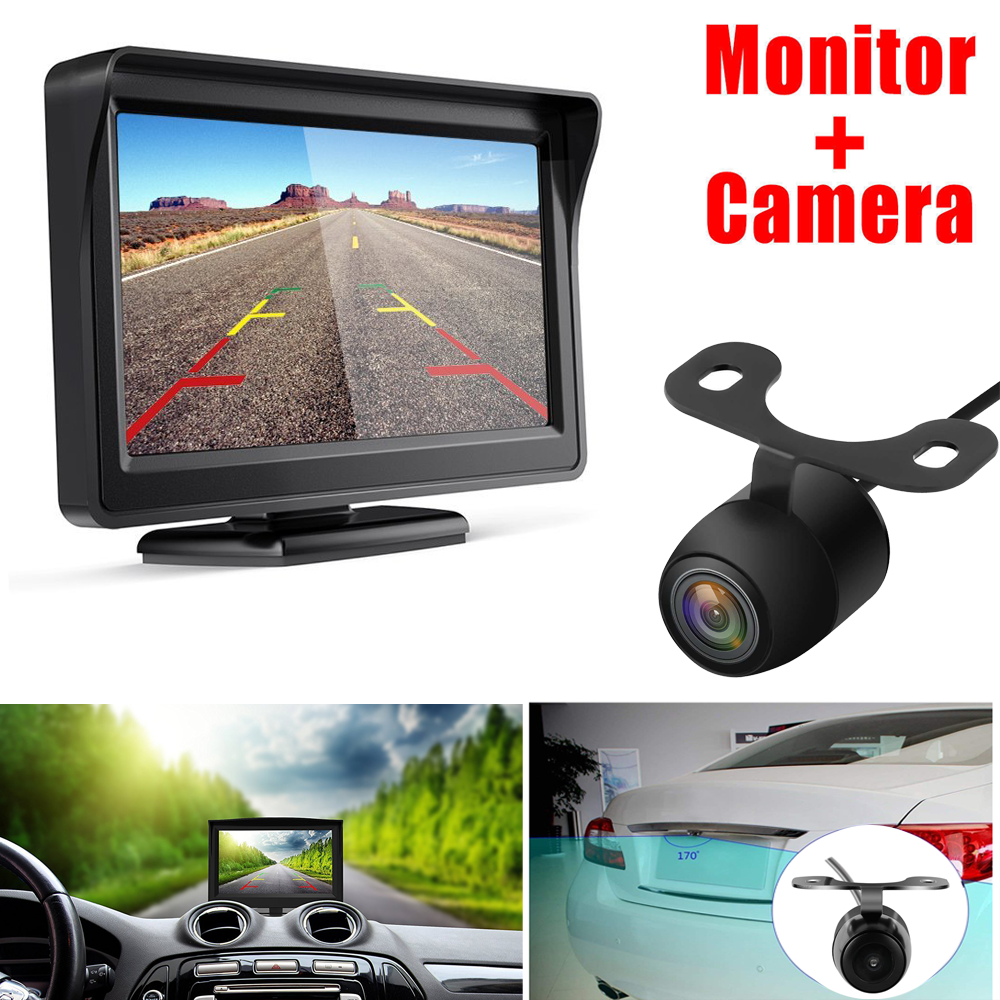 Esky Upgrade Version Car Rear View Reversing Camera with 170/° Perfect View Angle Design 7 IR LED Lights Night Vision IP68 Waterproof Universal Car Backing Camera Guide Lines ON//Off Backup Camera