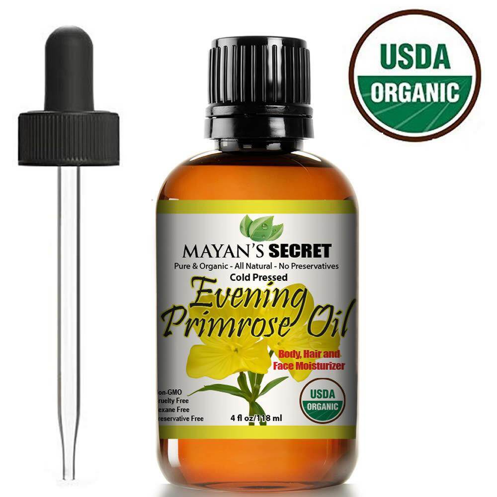 Evening Primrose Oil 4 oz. Cold Pressed 100% USDA CERTIFIED ORGANIC Unrefined Health & Beauty