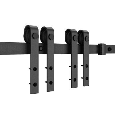 2pcs Sliding Barn Door Gear Track Hardware Roller Rail Pulley Hanging Wheel Kit