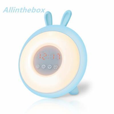 Wake Up Light Sunrise Alarm Clock Digital Cartoon Student Bedroom Bedside LED...