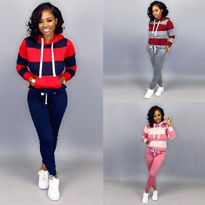 2Pcs Womens Tracksuit Hoodies Pants Set Ladies Casual Lounge Wear Sports Suit UK