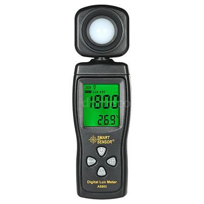 Digital Illuminance Light Meter 200000 Lux Photometer Luxmeter Lcd Display Q0k8