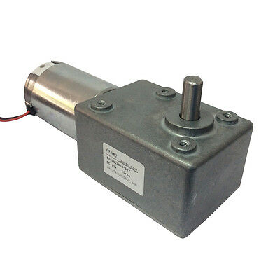 Dc 12v 10rpm High-torque Worm Reducer Geared Motor Low Speed Gearbox Motor