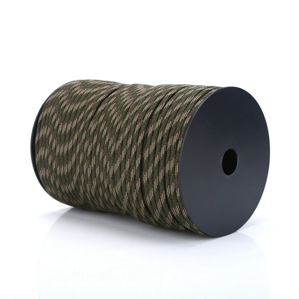 Parachute Cord 550 Reflective Paracord Parachute Cord Lanyard 9 Strand Core 100m for Outdoor Activities