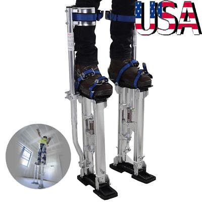 Professional Adjustable 24-40 Inch Plastering Stilts Painter Tool Silver