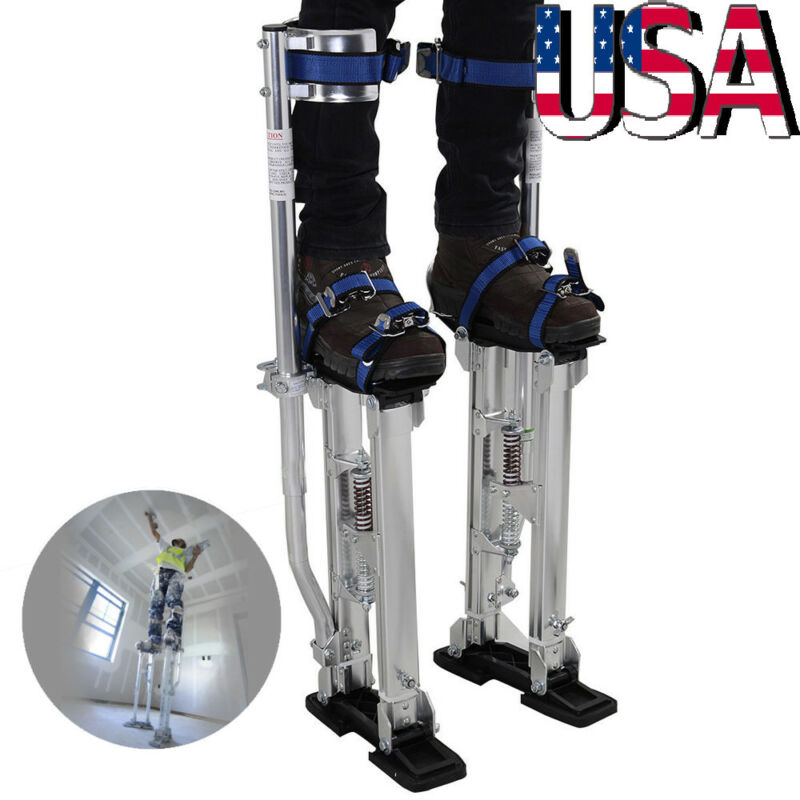 Professional Adjustable 24-40 inch Drywall Plastering Stilts Painter Tool Silver