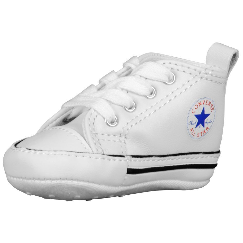 9a783d00cb17 CONVERSE NEWBORN CRIB WHITE LEATHER 81229 FIRST ALL STAR BABY SHOES SIZE-1-  4