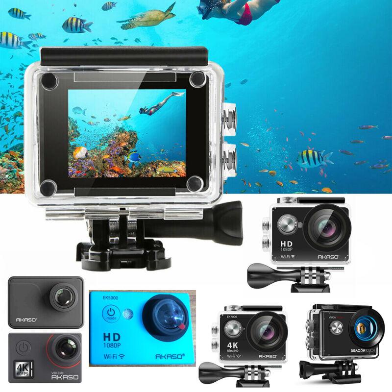 "AKASO Action Camera 1080P 4K 20MP DV Camcorder 2"" Touch Screen   Refurbished US"