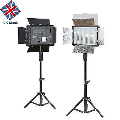 UK 2 X Godox LED500LRC 3300K-5600K LED Video Continuous Light Lamp + Light Stand