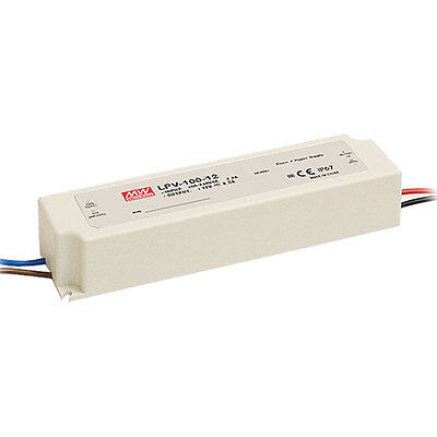 Mean Well Lpv-100-24 Enclosed Switching Led Power Supply 24 Volts 4.2 Amps 100.8