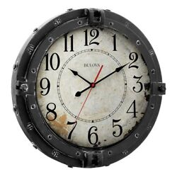 Bulova Navigator Wall Clock, Brown